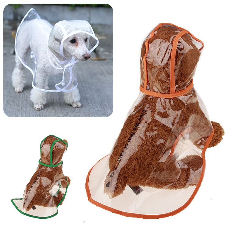 outdoor waterproof cat clothes transparent dog raincoat for cats coat jacket cat rain coat pet clothes 10s2d40 in cat clothing from home garden on
