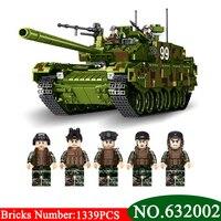 AIBOULL PLS Militaire 632002 1339 pcs TYPE 99 Principal Char de Combat Blocs de Construction Briques éclairent jouets pour enfants Compatible LEPIG