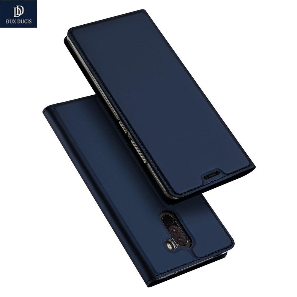 DUX DUCIS Pour Xiaomi Pocophone F1 Cas De Luxe de Haute Qualité PU Cuir Flip Couverture Pour Xiaomi Poco F1 Peu F1 téléphone Cas