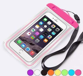 Universal Swimming Phone Bag Night Light Underwater Waterproof Mobile Phone Pouch for iPhone 6 6s 6Plus 7 7Plus pochette étanche pour téléphone