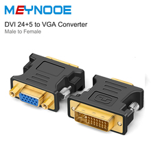 DVI d VGA Adapter DVI to VGA Mini jack DVI 24+5 to VGA 1080P Male to Female Gold plate DVI VGA Converter for HDTV Monitor Laptop