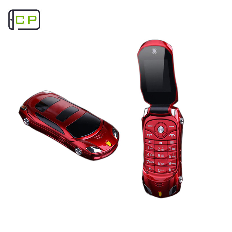 NEWMIND F15 Flip Phone With Camera Dual SIM LED Light 1.8 inch Screen Luxury Car Cell Phone(Can Add Russian keyboard) mobile phone