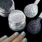1g Holographic Nail Glitter Silver/Black Laser Shiny Glitter Powder Dust DIY Charming Manicure Nail Art Decorations TRL03/15