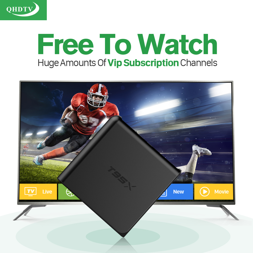 T95X Smart Android IPTV Set Top Box 1G+8G S905X Media Player with 3500+ HD IPTV Europe Arabic Subscription 1 year French UK STB цена 2016