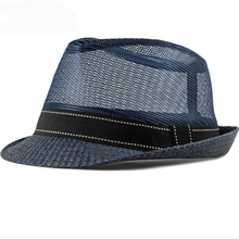 цена на HT2379 Men Women Summer Sun Hat Breathable Mesh Cap Straw Hat Tribly Beach Hats for Men Summer Fedoras Unisex Cool Panama Hat