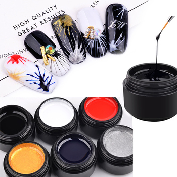 6 Colors Nail Art 5ml Elasticity Pulling Silk Spider Gel Polish DIY Creative Nail Gel Point To Line Painting Lacquer Varnish