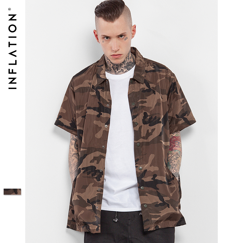 Inflation 2017 Summer Collection Camouflage Camo Shirt