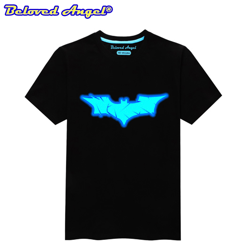 Summer Boys Luminous Printed T-shirt Tops Kids Casual Short Sleeve O Neck T Shirt Girls Tee Tops Teenager Clothes 3-15year