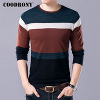 COODRONY Soft Wool Thin Sweater Men Casual O Neck Pullover Men Autumn Winter Cashmere Sweaters Plus