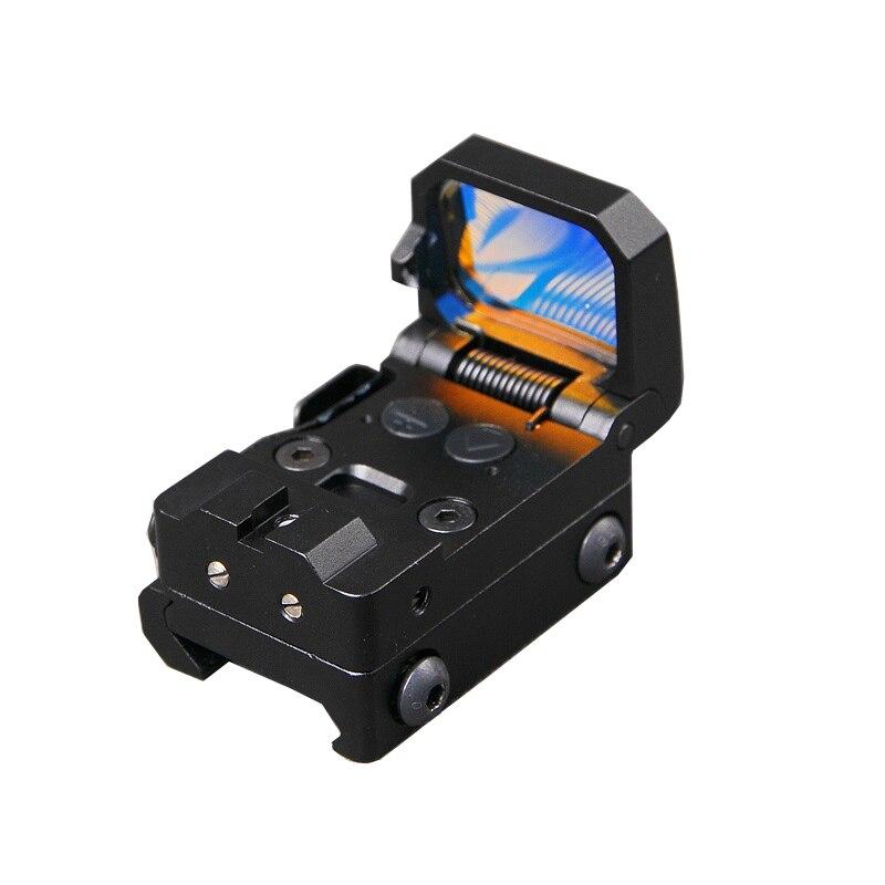 RMT Flip rouge point vue pistolet portée pliable réflexe point rouge vue de haute qualité 10 niveau réglage de la luminosité avec support