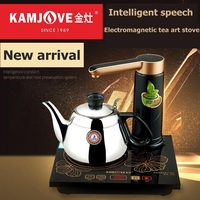 KAMJOVE D60 intelligent electric kettle automatically add water electric tea stove Intelligent speech Induction cooke
