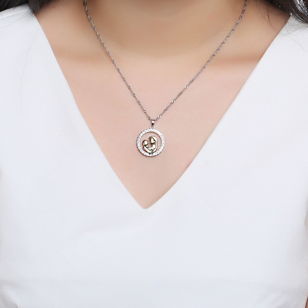 36 pcslot fashion mother and baby necklaces pendants rhodium 36 pcslot fashion mother and baby necklaces pendants rhodium plated motherhood memorial jewelry mothers day gift for women in pendant necklaces from mozeypictures Gallery