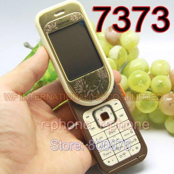 NOKIA 7373 Mobile Phone Unlocked Original 7373 2G Tri-band Refurbished  Cellphone Russian Keyboard & Gift & One year warranty
