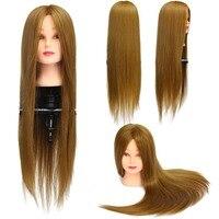 CAMMITEVER блонд Золотой манекен голова для укладки волос тренировочная голова манекен косметология голова куклы синтетические волокна волос о...