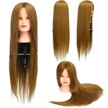 ブロンドゴールデンマネキン頭髪スタイリングトレーニング頭部マネキン美容人形ヘッド合成繊維の毛の卸売 CAMMITEVER