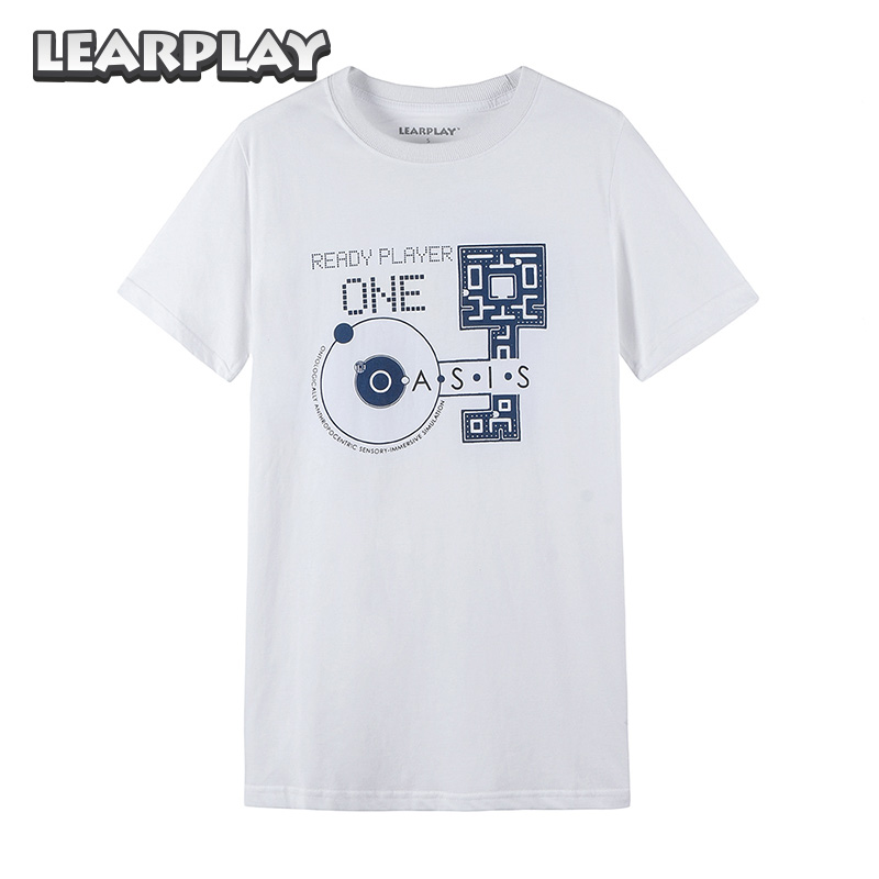 Ready Player One T-shirts White Unisex  Letter Printed Tee Cotton Short Sleeve Casual  Tops Clothing