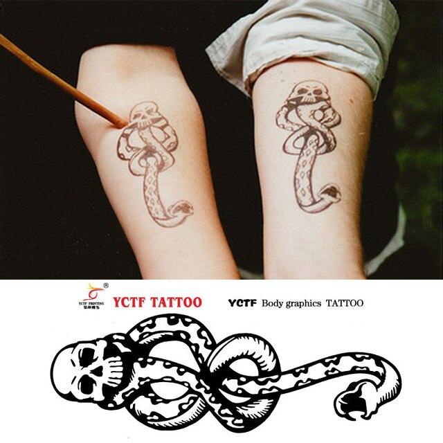Harry Potter Death Easters Dark Mark Mamba Temporary Tattoos ...