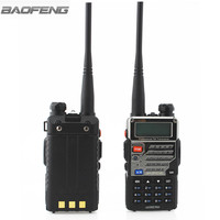 vhf uhf Baofeng UV-5RE פלוס מכשיר הקשר CB VHF UHF Portable חובב Ham שני הדרך רדיו 5W Dual Band לציד נהג המשאית (2)