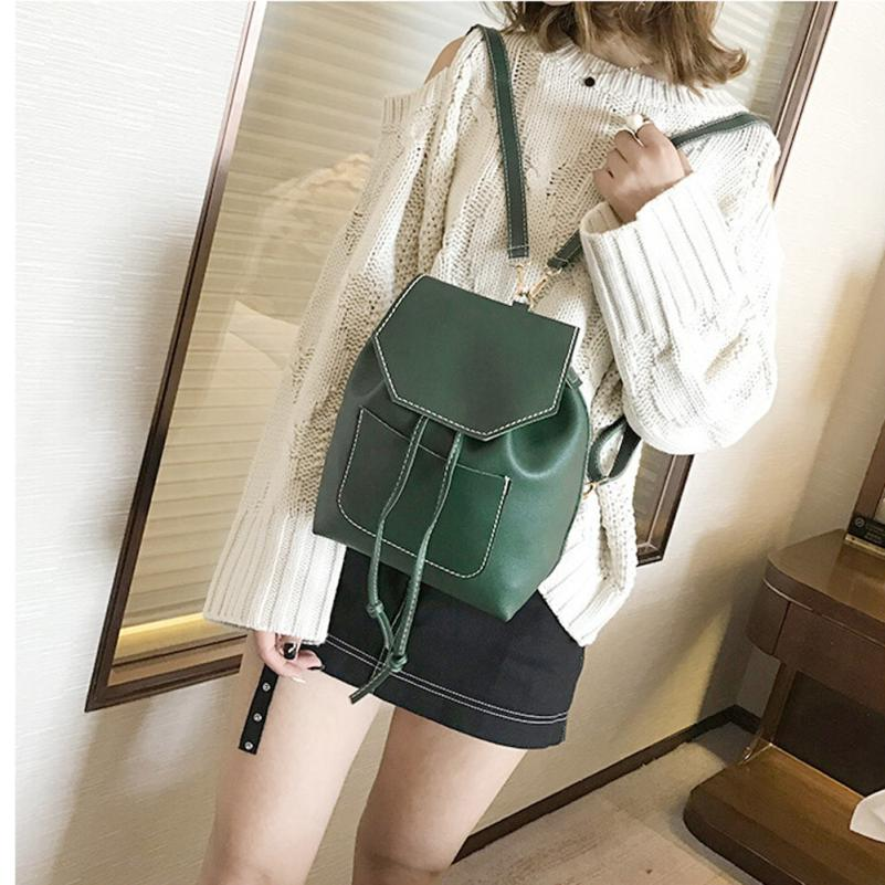 maison Backpacks new high quality Drawstring Fashion Girl Student Leisure Backpack Schoolbag Soft backpack women 2018ma9