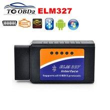 OBD2 רכב כלי שחור ELM327 V2.1 Bluetooth עובד אנדרואיד/Windows תומך OBD2 פרוטוקולי יכול אוטובוס סורק ELM 327 אוטומטי קוד קורא