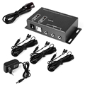 IR Extender 1 Receiver 6 Emitters 12V Repeater A/V Hidden Infrared Remote AH178