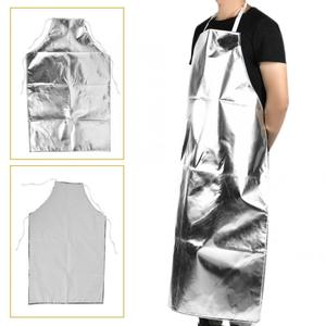 Image 3 - 1000 °C Heat Resistant Aluminum Foil Apron High Temperature Working Apron