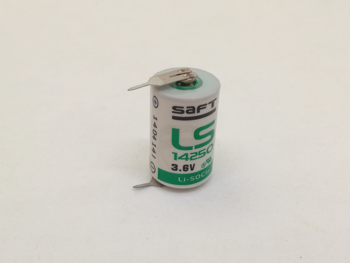 Brand New Original SAFT LS14250 LS 14250 1/2 AA <font><b>1/2AA</b></font> 3.6V 1250mAh PLC <font><b>Battery</b></font> Lithium <font><b>Batteries</b></font> With Pins image