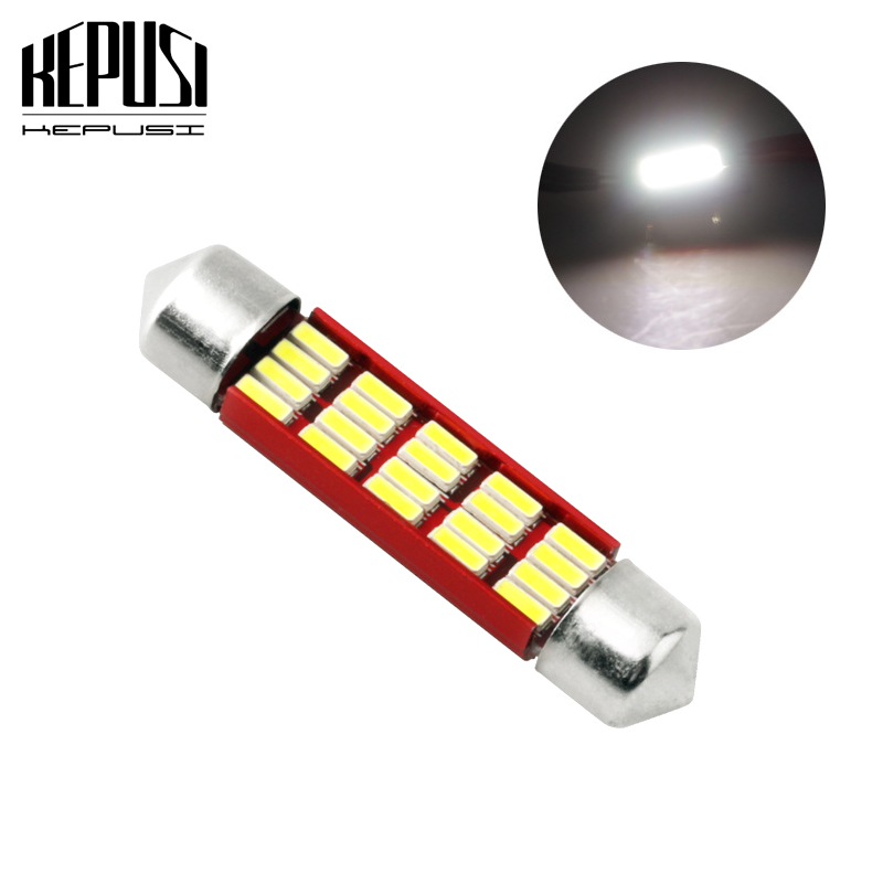 Automobiles & Motorcycles Realistic 10x 3528 12-smd 41mm Led Car Interior Festoon Dome Bulb Lamp Light Kit 12v White Electric Vehicle Parts