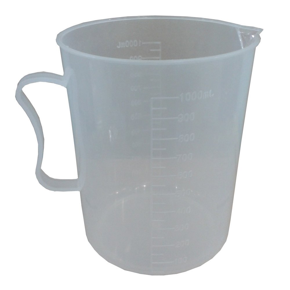 1000ml Laboratory Plastic Beaker Graduated Handled Measuring <font><b>Cup</b></font>