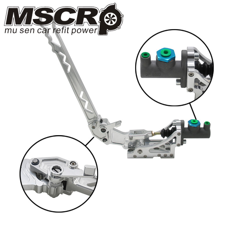 Universal Adjustable Aluminum Vertical Hydraulic Drifting Hand Brake With Special Master Cylinder S14 S13 silver-in Hand Brake from Automobiles & Motorcycles