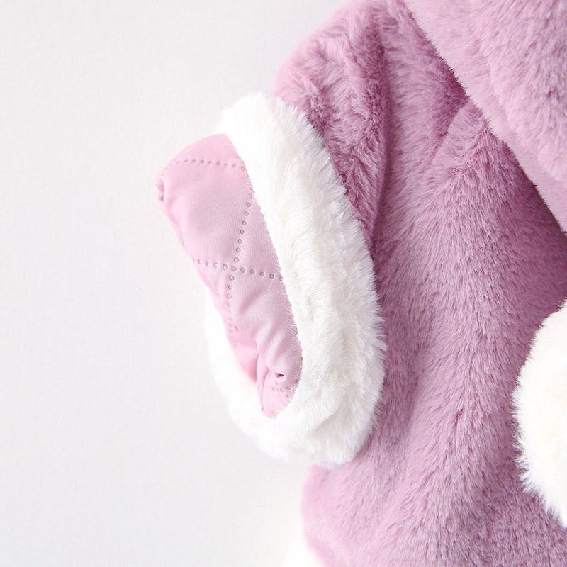 Winter warm velvet baby boys girls jackets children christmas cloak hooded thick jacket kids outwears (7)
