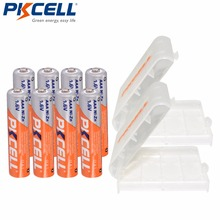 8PC PKCELL1.6V AAA batterie NIZN AAA piles rechargeables ni zn 900mWh avec 2PC boîtier de maintien de batterie AA AAA pour jouets caméra