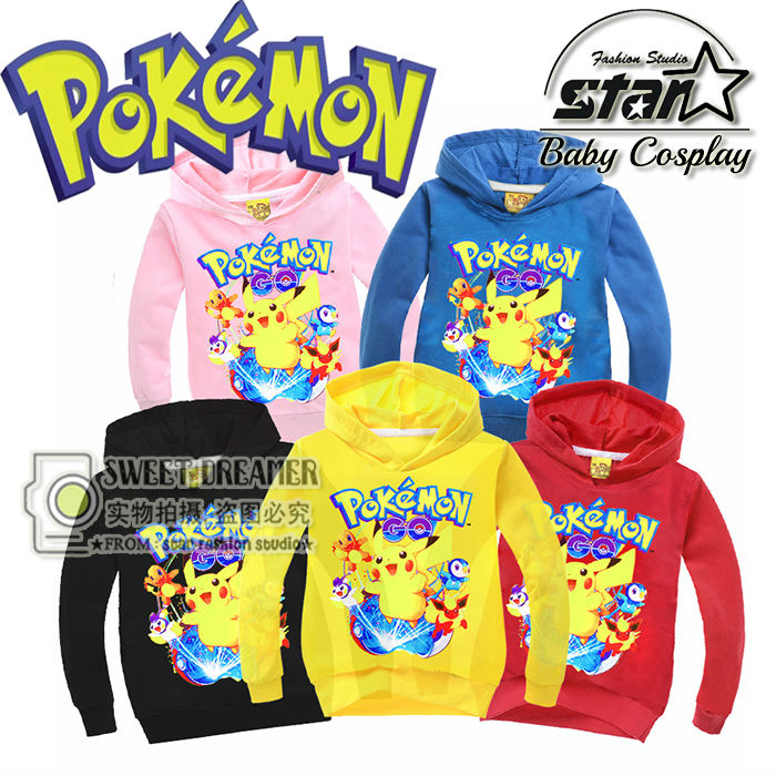 Hot Sale Boys Girls Sweatshirt Pikachu Printing Coat font b Kids b font Sport Hoodies Outerwear