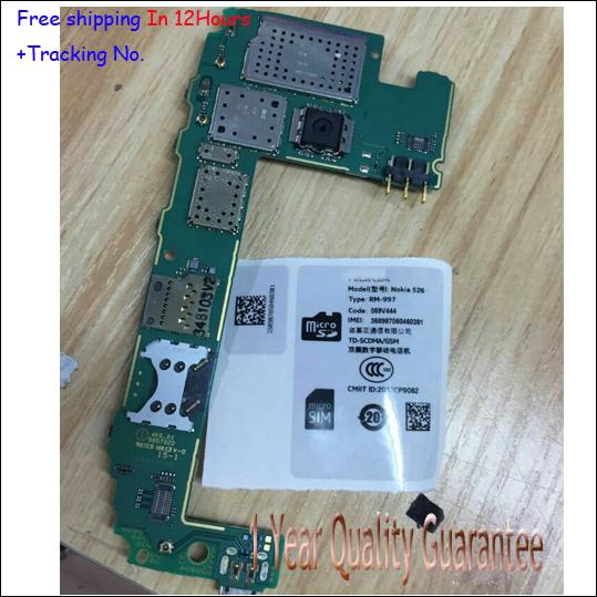Original para nokia lumia 526 525 probado ok placa madre mainboard motherboard número de seguimiento envío gratis