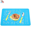 FINDKING 40x30cm Baby Kids Silicone Placemat Bar Mat cartoon animals with Numbers and letters Plate Mat Table Mat