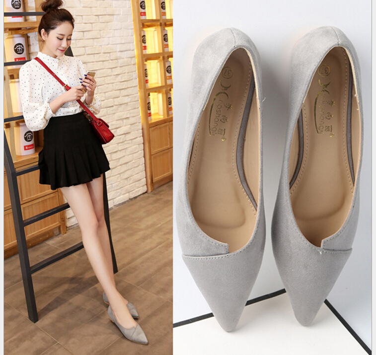 2017 Spring Summer New Women Casual Pointed Toe Loafers Flats Ballet Ballerina Flat Shoes Plus size 34-43 2017 spring summer new women casual pointed toe loafers flats ballet ballerina flat shoes plus size 34 43