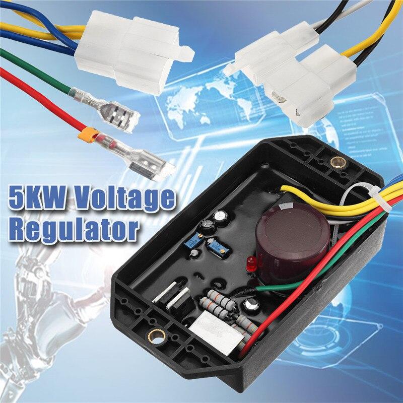 For Diesel Generator 5KW 10 Wire 186F 50S Voltage Regulator AVR For Kipor Kama KDE5000 KDE6500 KDE6700 186f 178f kipor diesel generator voltage regulator kama diesel generator charger