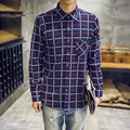 Flannel Men Plaid Shirts Luxury Slim Long Sleeve Brand Formal Business Fashion Dress Warm Shirts