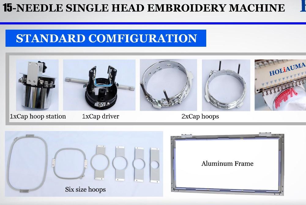 Mejor 1 cabeza de la aguja 15 3D máquina de bordar gorra como Tajima ... b9fc5503d55