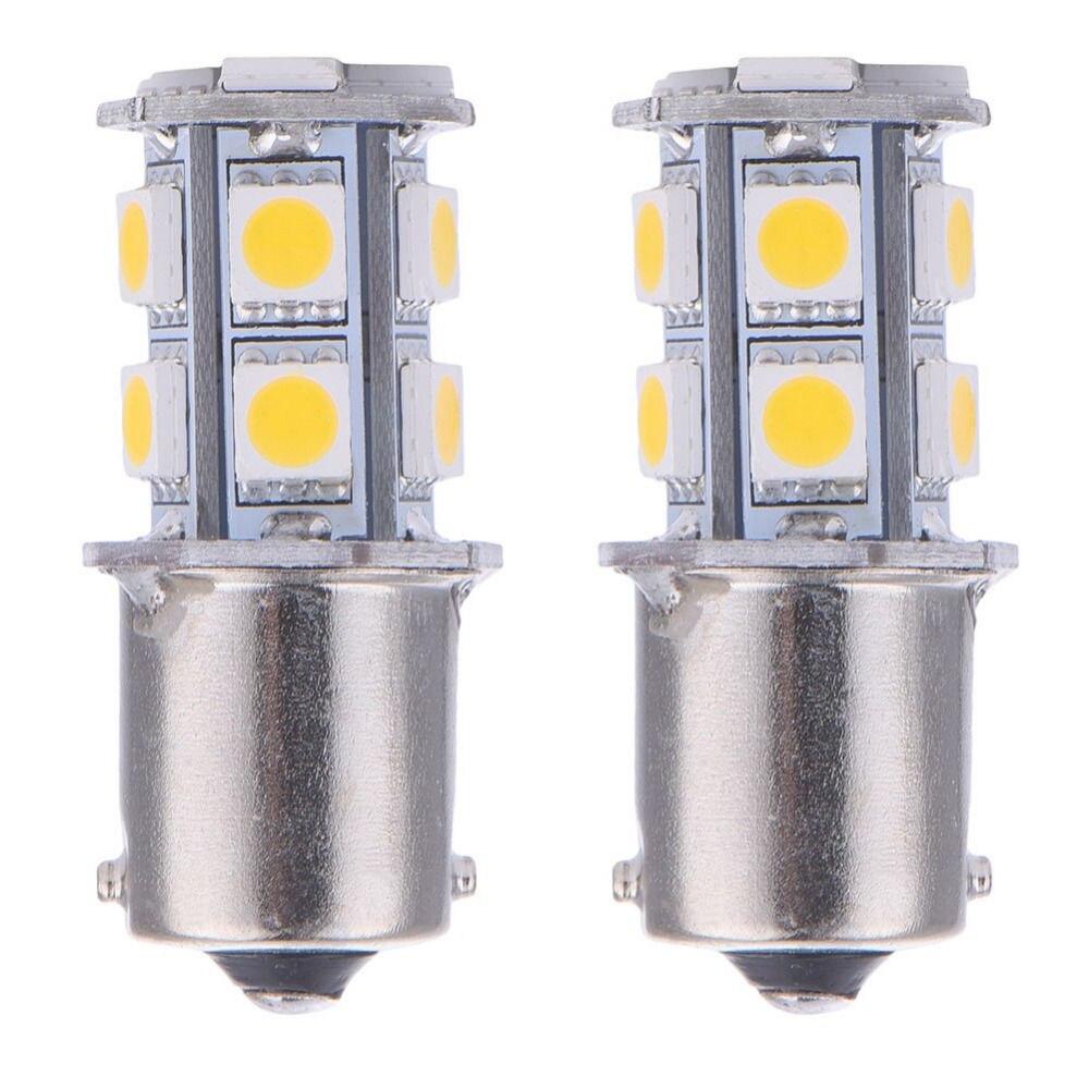 Голубой залив почвы в 2x теплый белый 1156 P21W BA15s из 13-СМД RV Автофургоне прицепа светодиодные лампы в салоне 1141 12В 24В