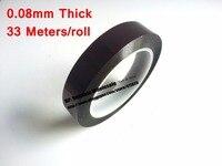 0.08mm 두꺼운 165mm * 33M 길이  고온 저항 폴리이 미드 테이프 PCB 실드  전자 스위치