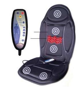Vital Physio Massage Chair Seat Massager Heat Vibrate Cushion Back Neck Chair Car Pain massager massageador +The adapter the silver chair