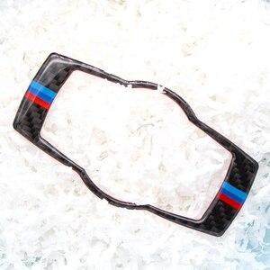Image 2 - Для BMW 3 серии E90 E92 E93 2005 2006 2007 2008 2009 2010 2011 2012 углеродного волокна фар переключатель рамки крышка Стикеры отделка