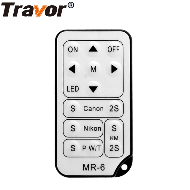Travor MR 6 ir universsal 무선 원격 제어 대부분의 canon nikon pentax 카메라 및 travor led 비디오 라이트 키트