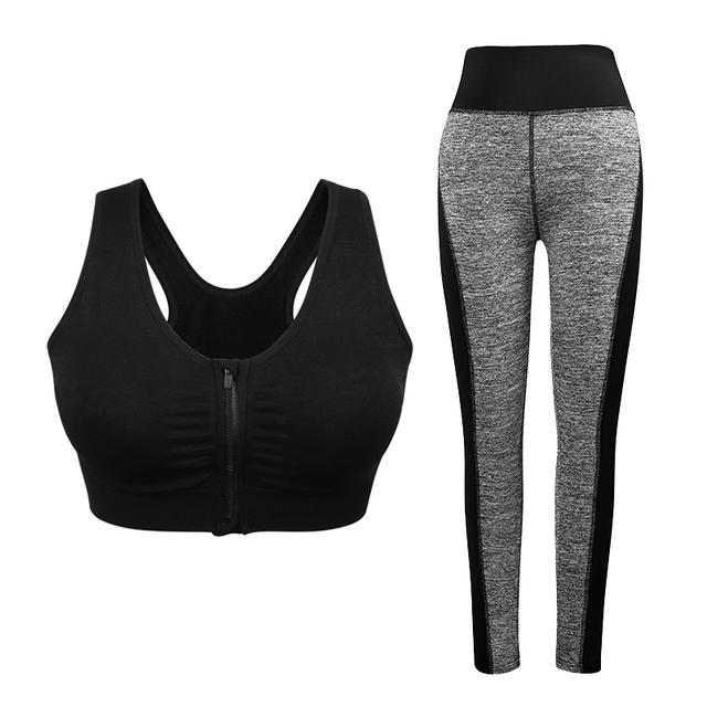 2Pcs Yoga Sets  with Sport Bra and Leggings