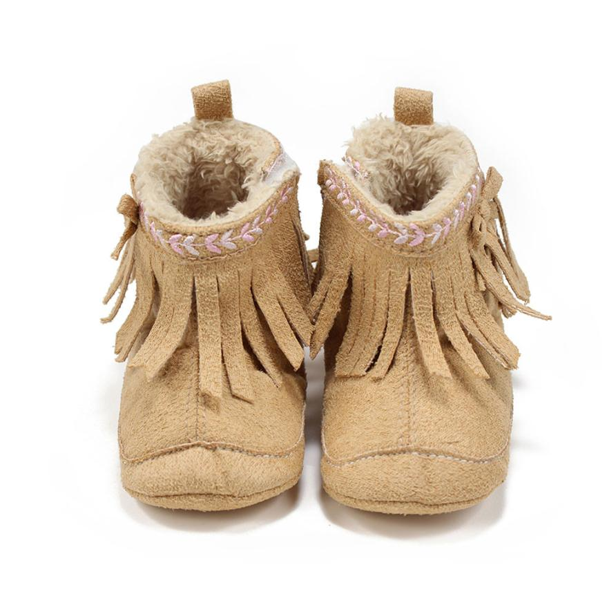 BMF TELOTUNY Fashion Baby Toddler Winter Moccasins Tassel Shoes Firstwalker Boots Leather Shoes First Walkers Apr25 Drop Ship