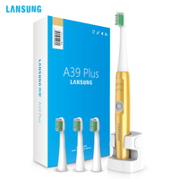 LANSUNG A39Plus Rechargeable Ultrasonic Electric Toothbrush 220V Wireless Oral Hygiene With 4 Toothbrush Heads Tooth Brush
