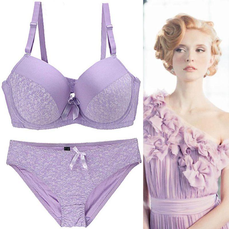 2019 Romantic Temptation Bra Set Women Fashion Sexy Lace  Underwear Set Push Up Bra and Panties Set Underwear Set Female