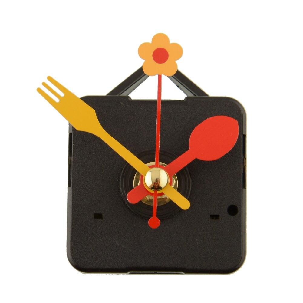 2017 Cute Quartz Clock Movement Kit Vřeteno Mechanismus Náhradní Opravy Díly S Květinou Lžíce Ruce DIY Drop shipping