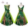 2016 Африканский Печати Платья Dashiki для женщин femme Vestidos Халат базен Riche Бальное платье элегантный dashiki dress плюс размер BRW WY606